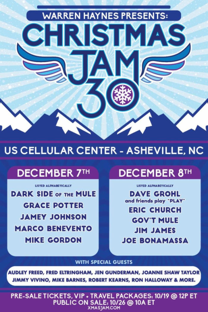 Warren Haynes' Christmas Jam to Feature Dave Grohl, Jim James, Mike Gordon, Jamey Johnson, Grace Potter and More